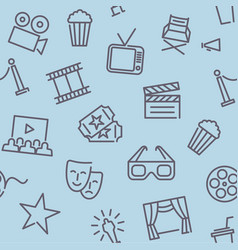 Cinema seamless background vector