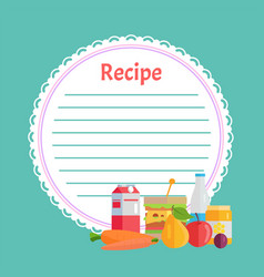 clean recipe decorated fruit and bottle vector image