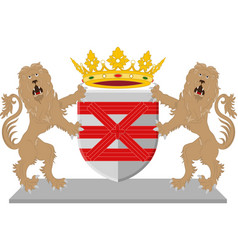 Coat of arms of enschede netherlands vector