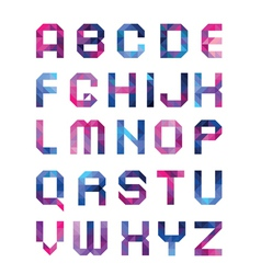 Colorful font from triangles vector