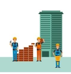 Construction workers cartoon vector