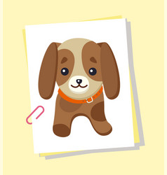 dachshund picture poster vector image