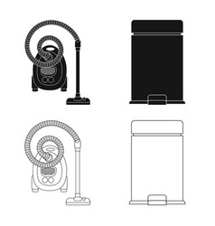 Design of cleaning and service sign set of vector