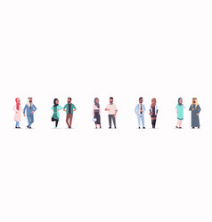 different arabic business couple standing together vector image