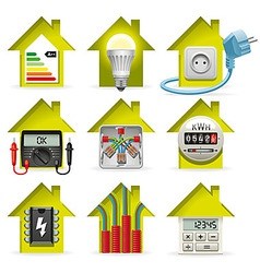 Electricity home icons vector