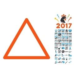 Empty Warning Trinagle Icon with 2017 Year Bonus vector