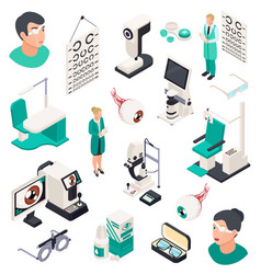 eye care professional icons vector image