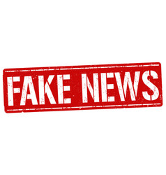 fake news grunge rubber stamp vector image