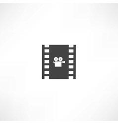 Film frame icon vector