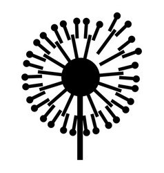 forest dandelion icon simple style vector image