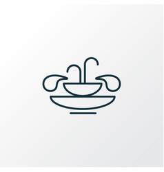 fountain icon line symbol premium quality vector image