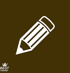 Geometry idea icon with detailed brown edit pencil vector