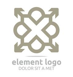 Gray element arrow letter design symbol icon vector