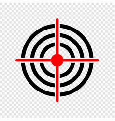 Gun target icon vector