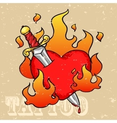 Heart Tattoo Design vector image