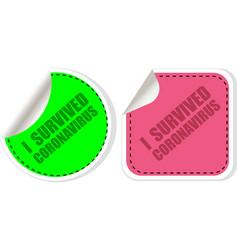 I survived coronavirus sign caution coronavirus vector