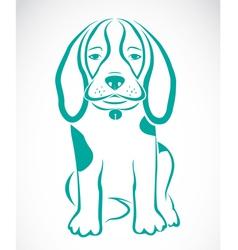 image of an dog beagle vector image