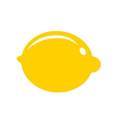 lemon citrus fruit icon bright art vector image