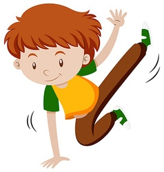 Little boy doing breakdancing vector