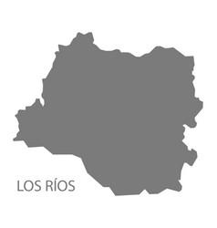 los rios chile map grey vector image