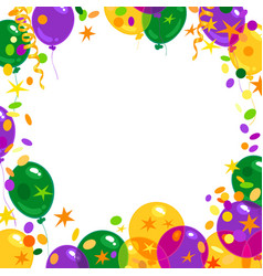 mardi gras carnival background with colorful vector image