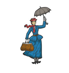 Mary poppins sketch vector