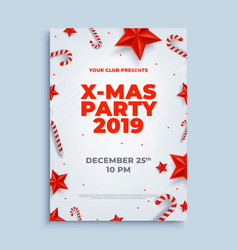 Merry christmas party layout poster poster vector