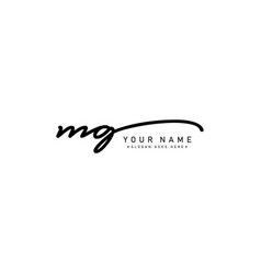 Mg initial letter logo - handwritten signature vector