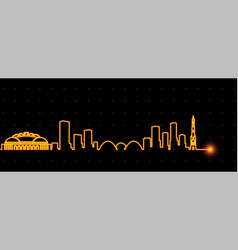 milwaukee light streak skyline vector image