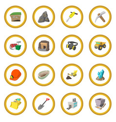 mining icon circle vector image