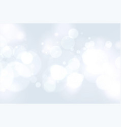 nice white background with bokeh light effect vector image