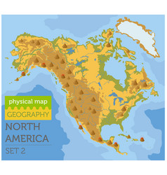 North america physical map elements build your vector