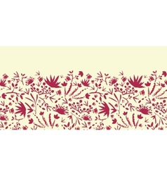 Painted abstract florals horizontal seamless vector image