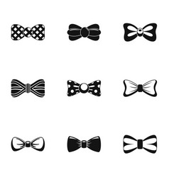 Papillon icons set simple style vector