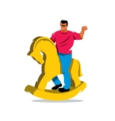 Rider on horse Cartoon vector