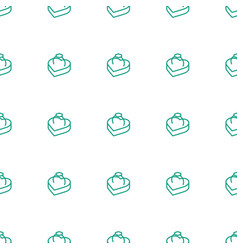 ring in box icon pattern seamless white background vector image
