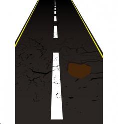 road pot hole vector image