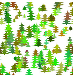 seamless chaotic winter holiday background - pine vector image