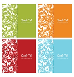 set of floral card backgrounds vector illustration vector image