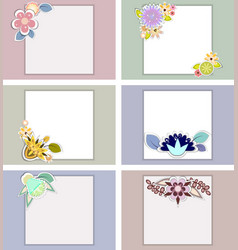 set of templates for weddingbirthday vector image vector image
