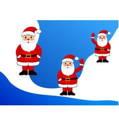 set santa clauses white background vector image