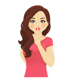 shhh women secrets vector image
