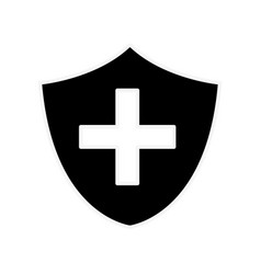 Silhouette seal cross emergency security vector