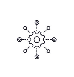 Software testing automation line icon vector