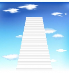 Staircase in sky background vector