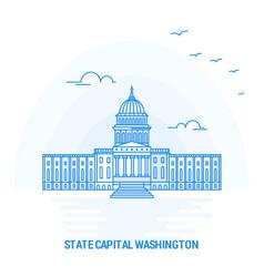 state capital washington blue landmark creative vector image