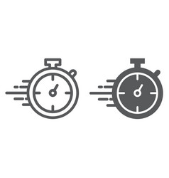 stopwatch line and glyph icon watch and countdown vector image