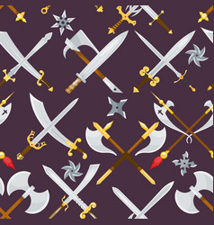 sword medieval weapon knight with sharp vector image