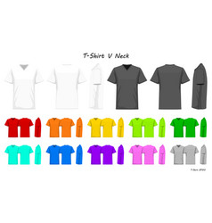 T-shirt v neck color collection set for your vector
