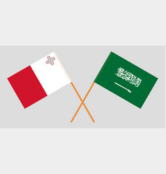 the maltese and ksa flags vector image